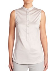 Akris Sleeveless Silk Jersey Blouse Iceman