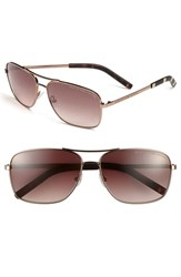 Men's Marc By Marc Jacobs 59Mm Aviator Sunglasses Shiny Brown