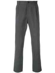 A.P.C. Straight Cut Formal Trousers Grey