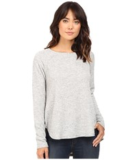 Heather Basket Jacguard Raglan Pullover Light Grey Women's Clothing Silver