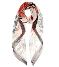 Alexander Mcqueen Patterned Silk Scarf Black