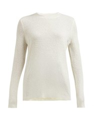 Gabriela Hearst Harius Cashmere And Silk Blend Sweater Ivory
