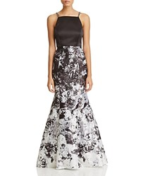 Aqua Two Piece Floral Skirt Gown 100 Exclusive Black White Gray