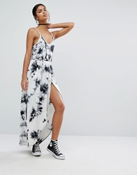 Daisy Street Tie Dye Maxi Dress Acid White