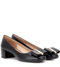 Salvatore Ferragamo Vara Lux Bow Patent Leather Pumps Black