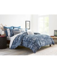 Ed Ellen Degeneres Hanako Blue King Comforter Set Bedding Medium Blue