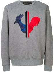 Rossignol Embroidered Sweatshirt Cotton Polyester Grey