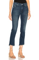 Mother Rascal Ankle Fray Crop In Blue