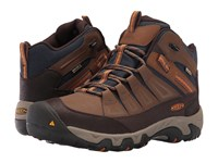 Keen Oakridge Mid Polar Waterproof Dark Earth Tortoise Shell Men's Waterproof Boots Brown