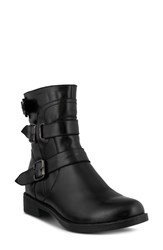 Spring Step Diony Engineer Bootie Black Leather