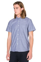 Saturdays Surf Nyc Esquina Oxford S S Button Down Blue