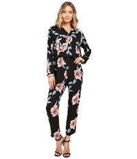 Show Me Your Mumu The Gadget Jumpsuit Flower Hour Women's Jumpsuit And Rompers One Piece Black