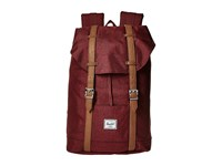 Herschel Retreat Mid Volume Winetasting Crosshatch Tan Synthetic Leather Backpack Bags Red
