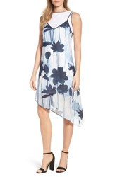 Kenneth Cole New York Two Layer Dress Linear Indigo Floral