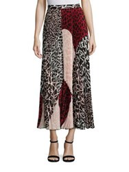 Yigal Azrouel Printed Pleated Skirt Jet Multi