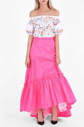 Peter Pilotto Women S Taffeta Long Skirt Boutique1 Pink