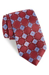 Nordstrom Men's Men's Shop France Geometric Silk Tie Dark Red