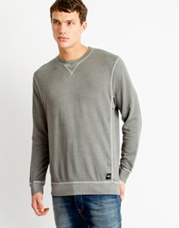 Only And Sons Mens Crew Neck Sweatshirt With Eyelet Detail Black