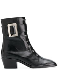 Dorateymur Buckle Detail Ankle Boots Black