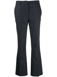 Fabiana Filippi Flared Leg Trousers Blue