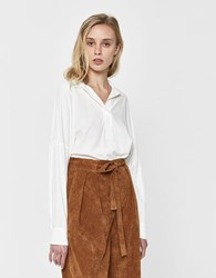 Stelen Ines Collared Top In White