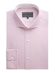 Racing Green Smith Dobby Formal Shirt Pink