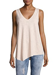 Saks Fifth Avenue Asymmetrical V Neck Tank Top Grey