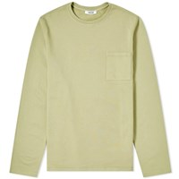 Tres Bien Open Hem Pocket Crew Sweat Yellow