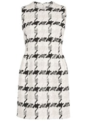 Alexander Mcqueen Houndstooth Tweed Mini Dress White