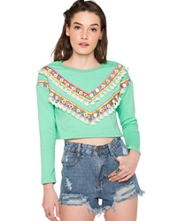 Pixie Market Aimee Tassel Crop Top