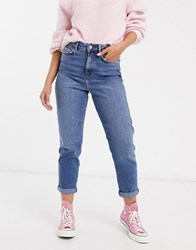 New Look Mom Jeans In Mid Wash Blue