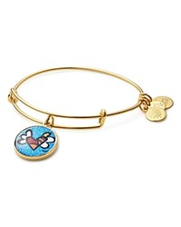 Alex And Ani Heart With Wings Charm Bangle Gold