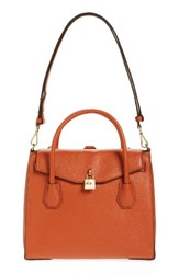 Michael Michael Kors Large Mercer All In One Leather Satchel Orange Orange Gold