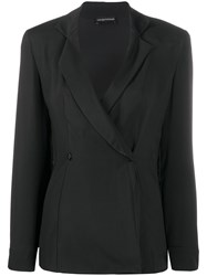 Emporio Armani Double Breasted Fitted Blazer 60