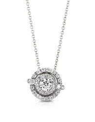 Forzieri 0.42 Ctw Diamond 18K White Gold Pendant Necklace