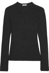 James Perse Slub Cotton Jersey Top Black