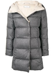 Peserico Quilted Coat Grey