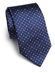 Saks Fifth Avenue Textured Dot Silk Tie Navy