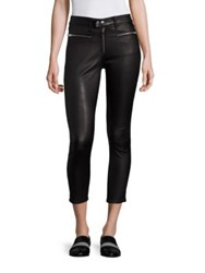 Rag And Bone Ryder Leather Skinny Jeans Black