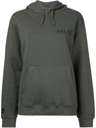 Premier Amour Muse Hoodie Women Cotton Polyester M Green
