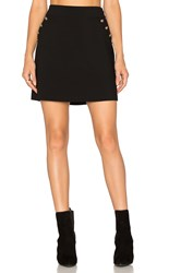 1.State A Line Button Skirt Black