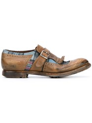 Church's Tartan Panel Loafers Men Calf Leather Leather Rubber 6 Brown