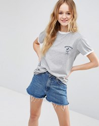 Asos T Shirt With Mickey Mouse Print And Tipping Gray