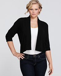 Calvin Klein Plus Size Knit Cropped Cardigan Black