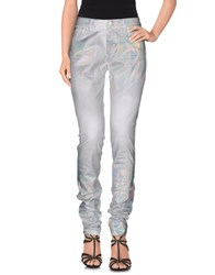 Blumarine Denim Denim Trousers Women White