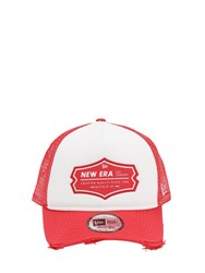 New Era Ne Patch Trucker Hat Red