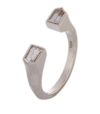 Susan Foster White Gold Bullet Ring
