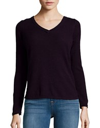 Democracy Asymmetrical Lace Up Sweater Aubergine