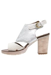 Mjus Playa Platform Sandals Bianco White