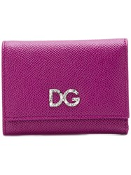 Dolce And Gabbana Logo Wallet Pink And Purple